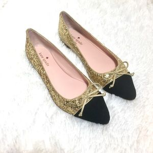kate spade New York Nella Leather Pointed Toe Flat